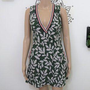 ASOS Green & White Leaf Mini Dress S